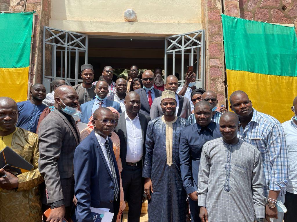 LE PROCUREUR DE LA COMMUNE IV M. IDRISSA HAMIDOU TOURÉ RECEVANT LE MINISTRE DE LA JUSTICE, HIER